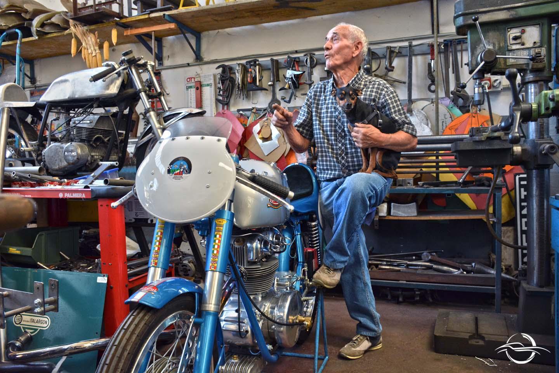 moto Mondial con Danilo Tavoni