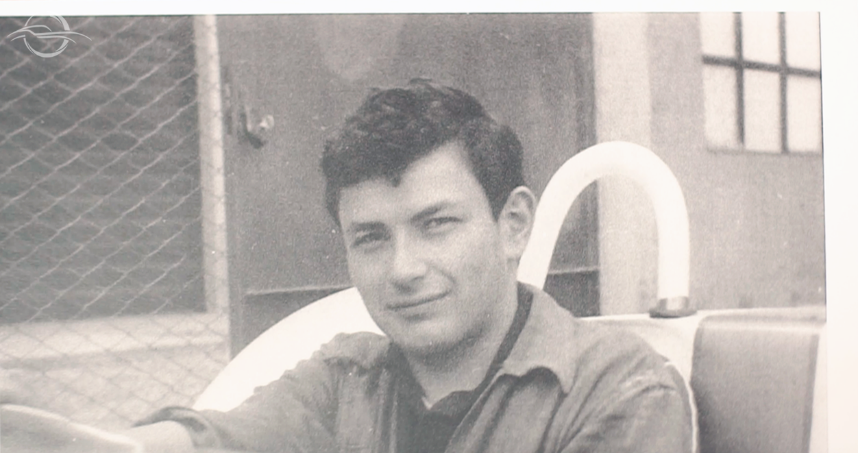 fotografia in bianco e nero di Franco Bacchelli da giovane