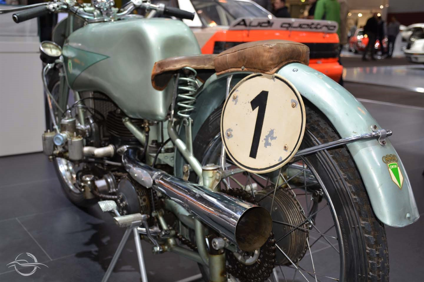 photo of the rear of motorcycle DKW 500 ULD, AUTO UNION 2