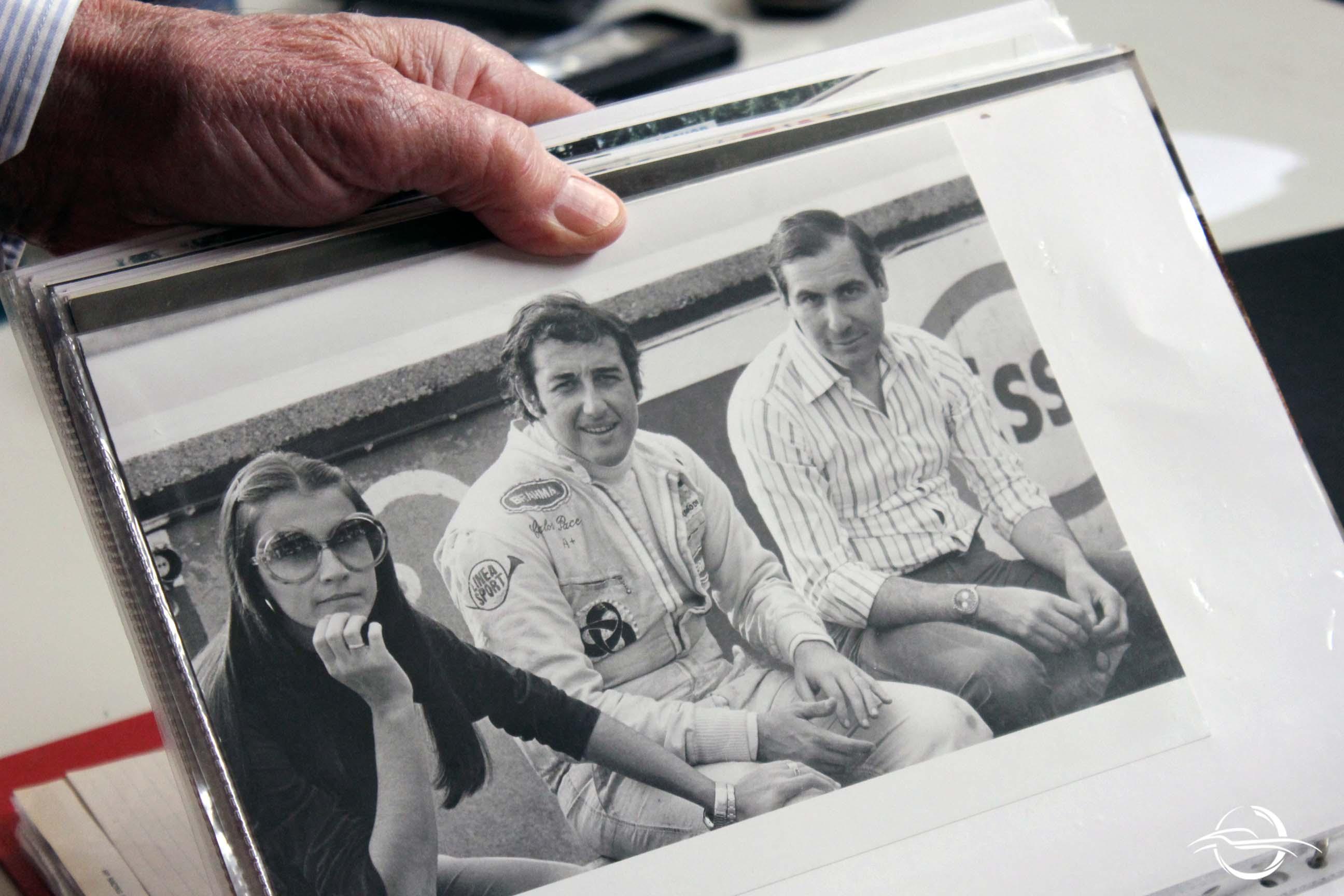 foto con José Carlos Pace e Mario Acquati