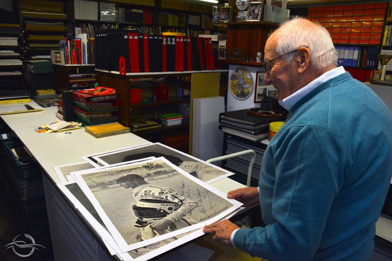 Arturo Merzario fotografato da Gabriela Noris, la ex-moglie di Antonio Ghini