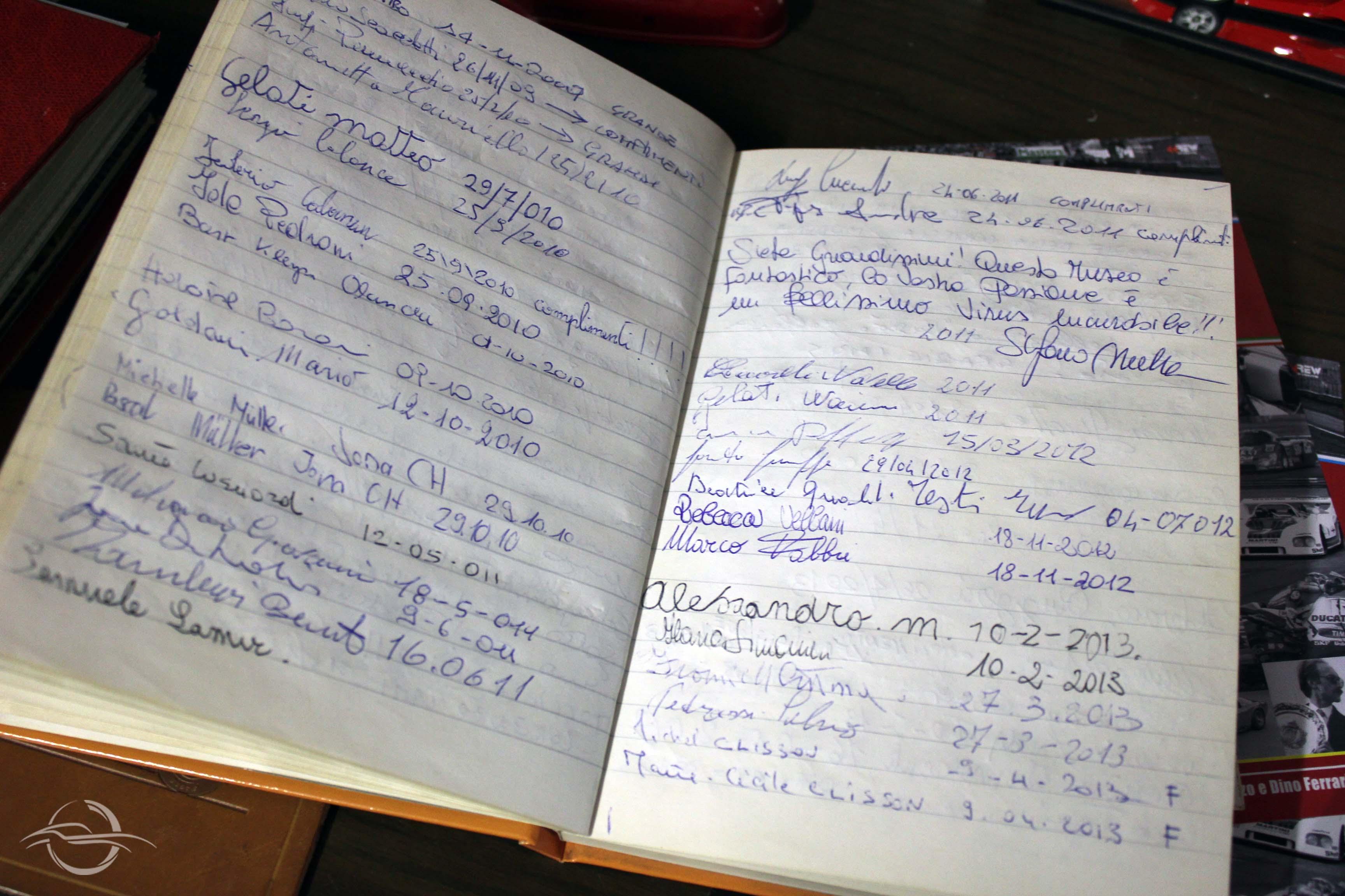 registro delle presenze di Morselli