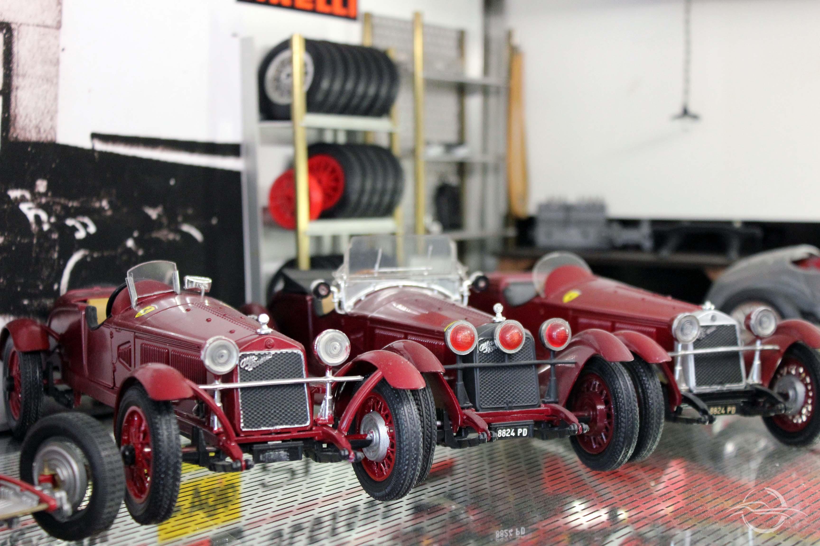 riproduzione officina Ferrari Alfa Romeo della collezione Morselli