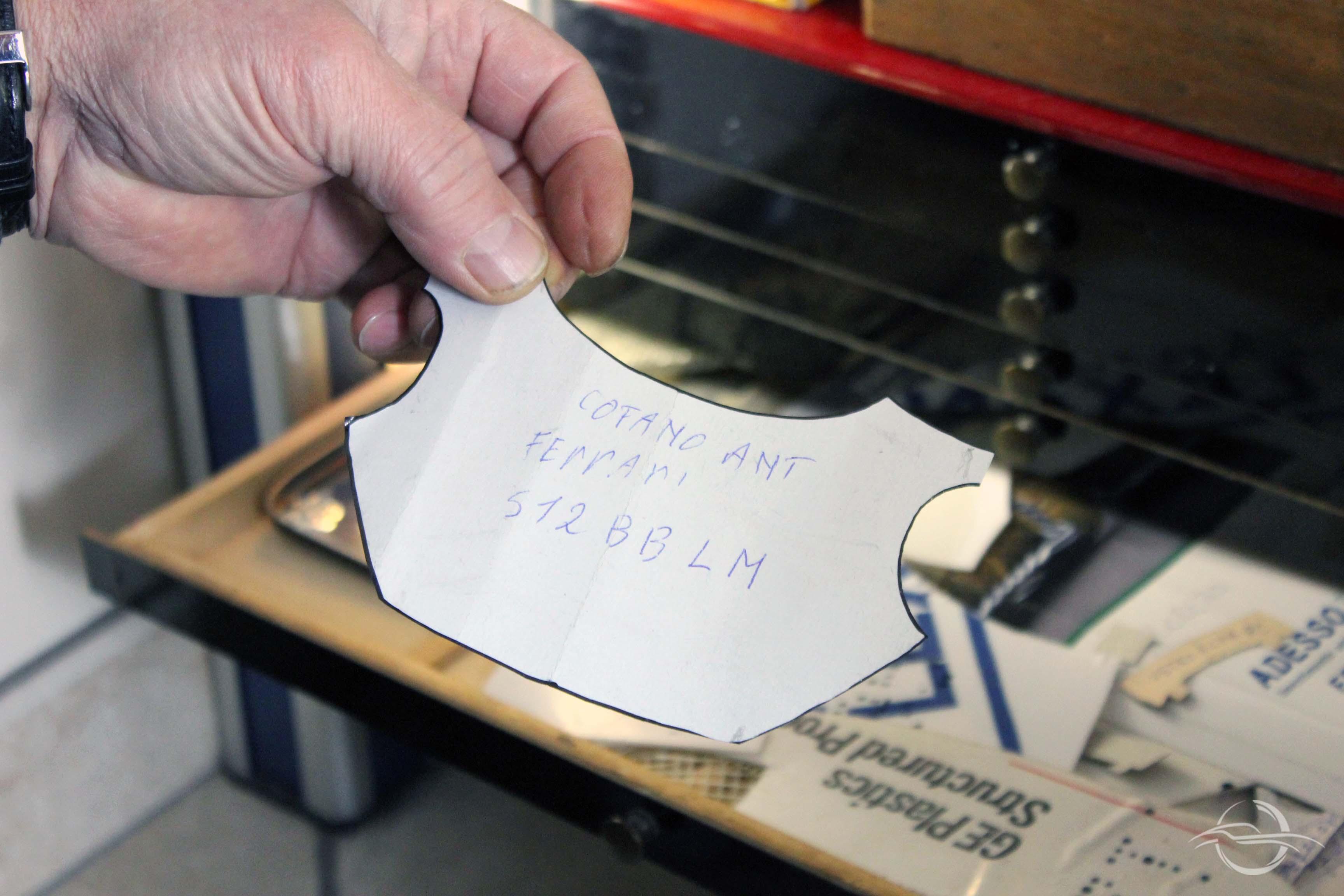 cartamodello cofano Ferrari collezione Morselli