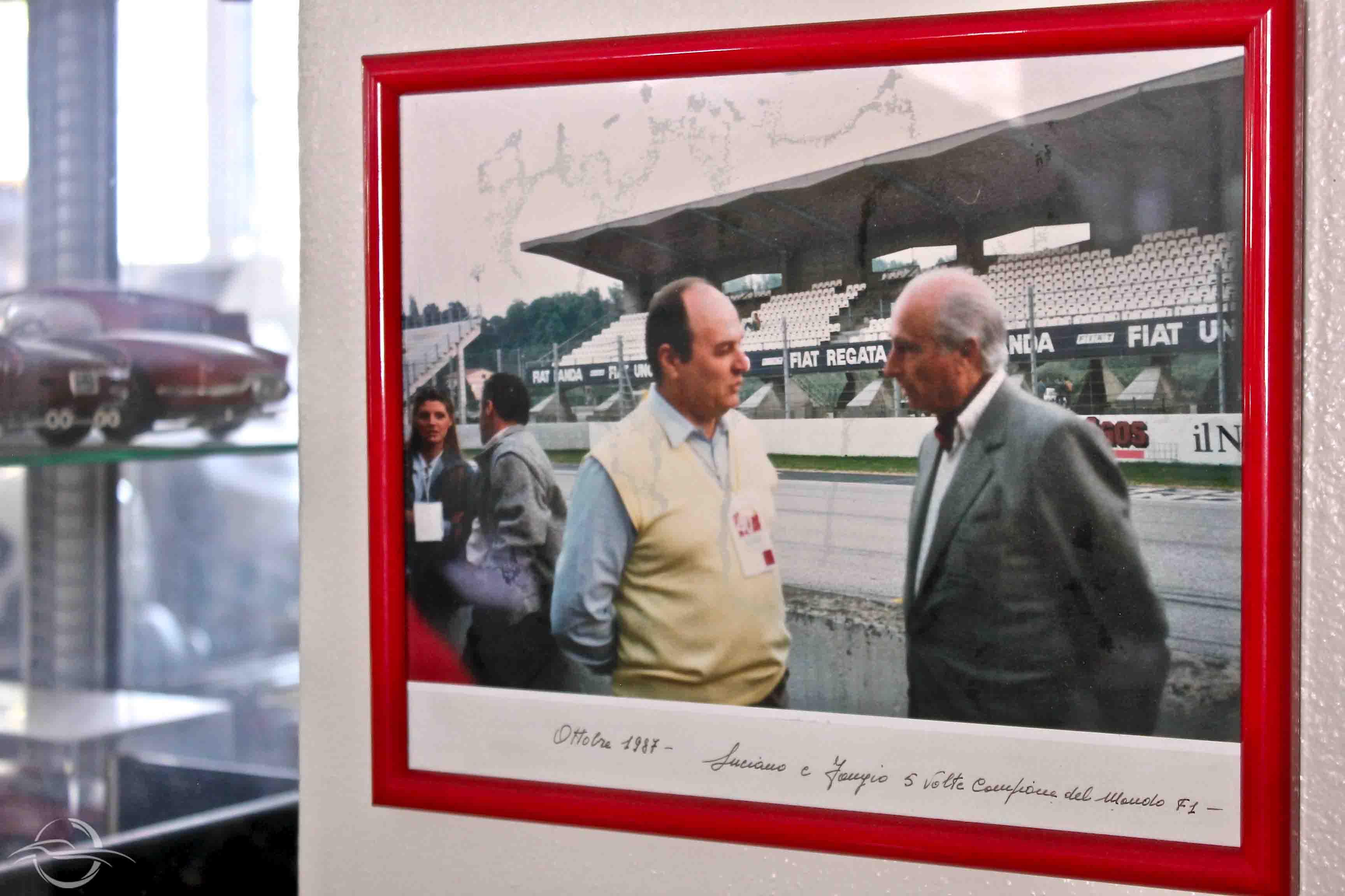 Luciano Rizzoli e Manuel Fangio
