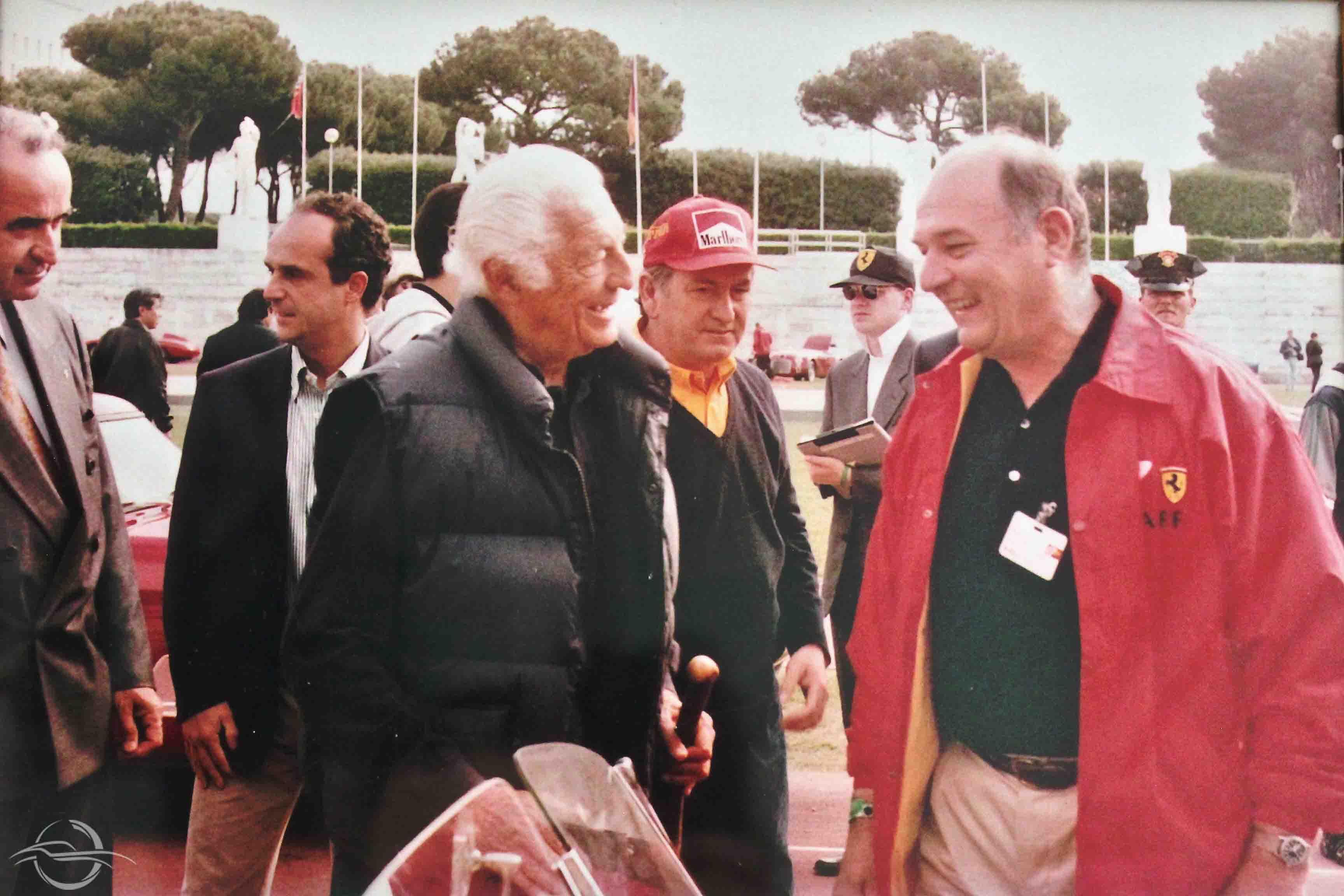 Gianni Agnelli e Luciano Rizzoli - 50° anniversario della Ferrari