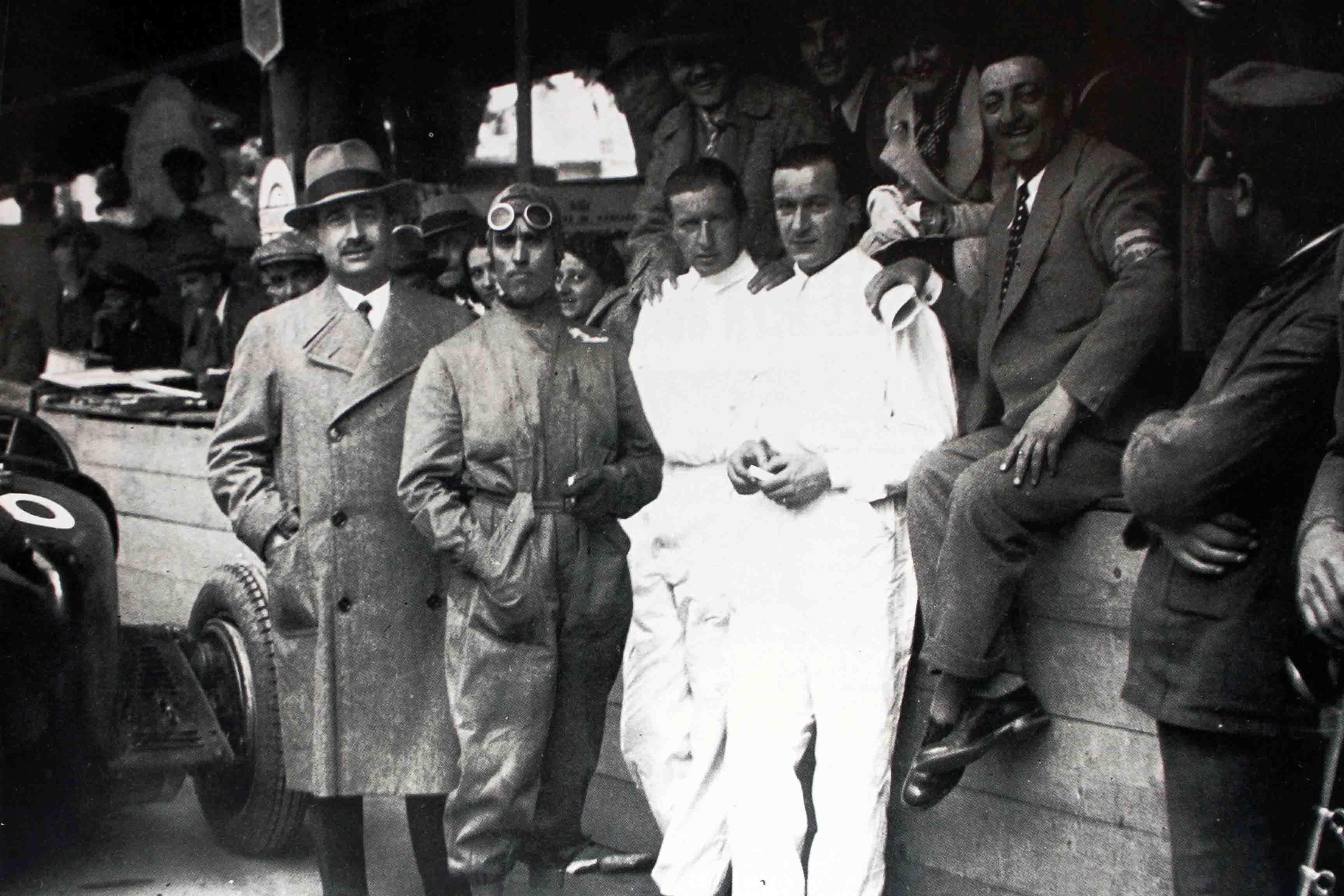 """Carlo Felice Trossi – Fotografia dal volume """"La storia della Formula 1"""" Edizioni Equipe"""