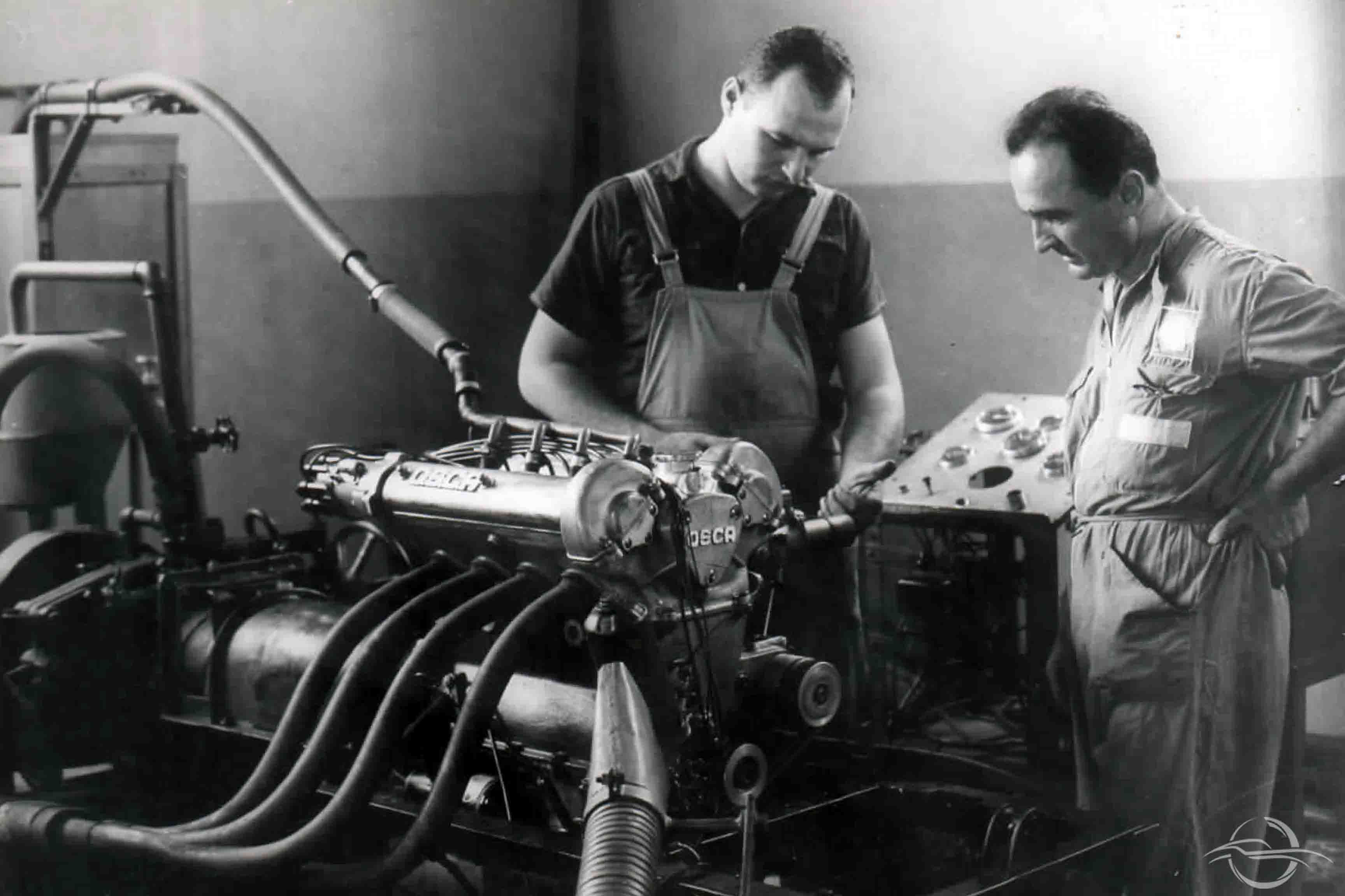 Luciano Rizzoli and Engineer Stanzani - San Lazzaro di Savena 1960