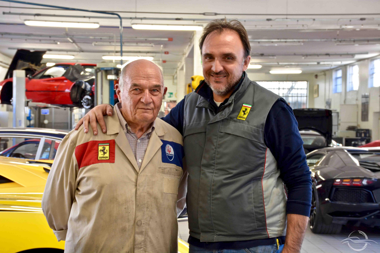 Luciano Rizzoli e il figlio Francesco Rizzoli