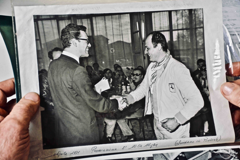 Luciano Rizzoli con il Sindaco di Padova - 1°Mille Miglia storica