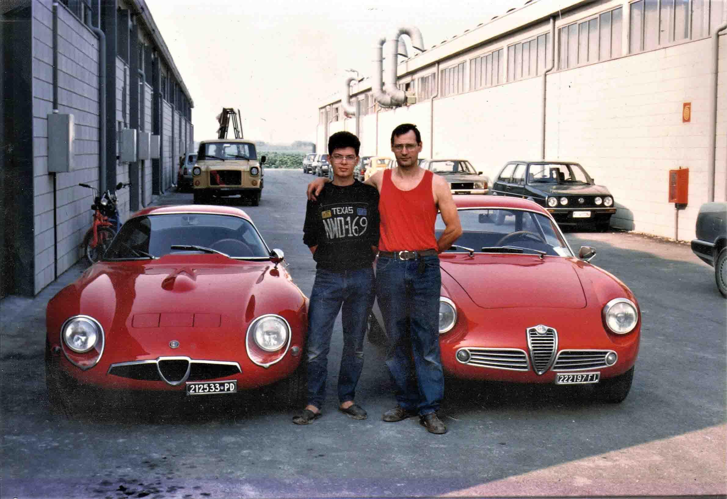 Antonio Mario Faralli e figlio nel 1987