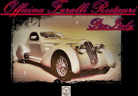 Lancia Astura Castagna - logo Officina Faralli Restauri