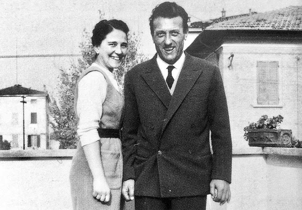 Sergio Scaglietti e la moglie