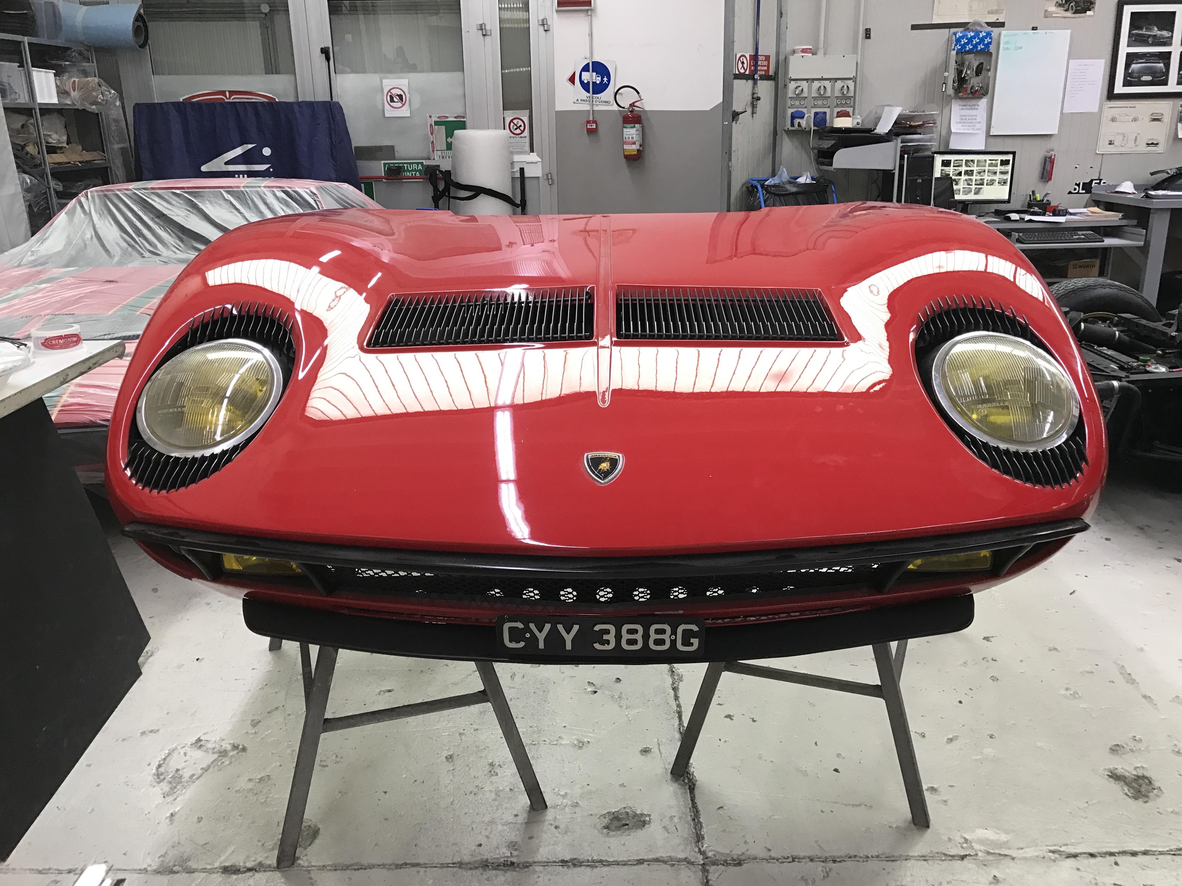 Lamborghini Miura S #4000 - cofano restauro