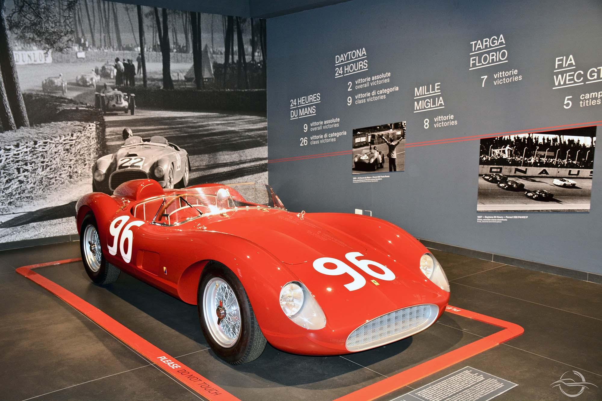 Ferrari 500 tr presso Museo Ferrari Maranello
